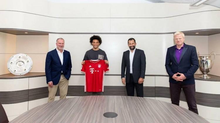 拜仁签下萨内  足球话题区