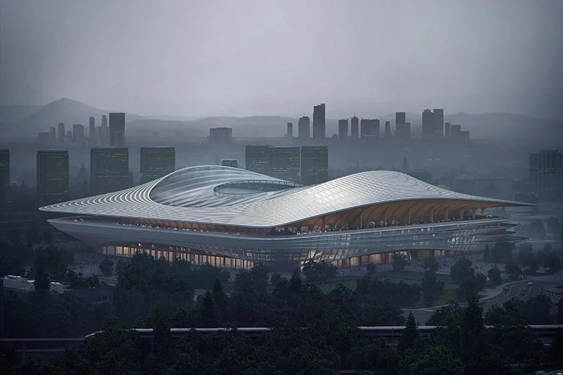 现代化专业球场!西安国际足球中心设计效果图出炉