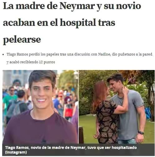 拉莫斯与内马尔的母亲在争吵中划伤手臂,内马尔扬言要杀死这位准继父  足球话题区